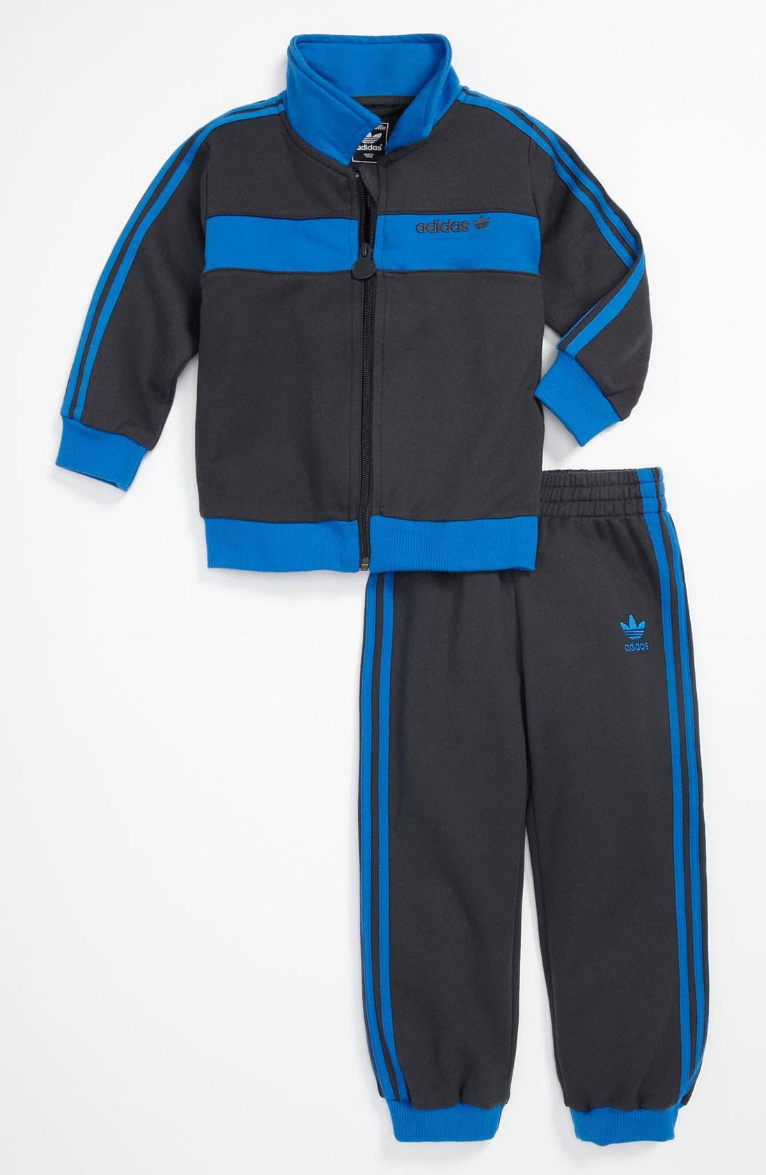Main Image - adidas 'Breckenbauer' Jacket & Pants (Infant)