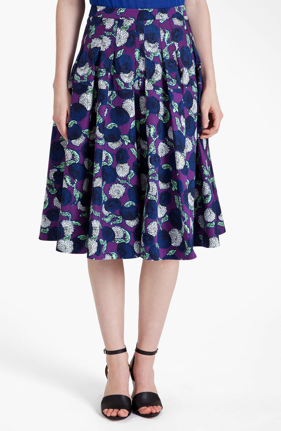 Alternate Image 1 Selected - Marni Mum Print Gabardine Skirt