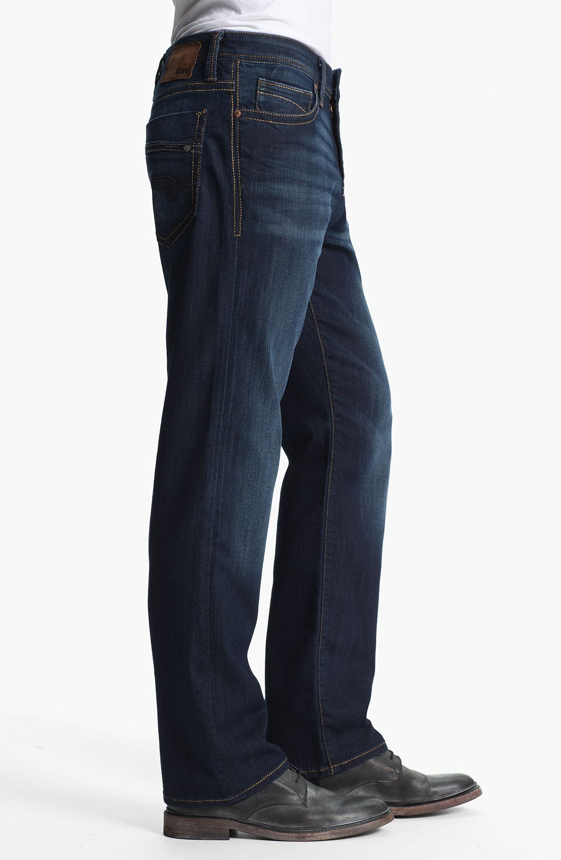 Alternate Image 3  - Mavi Jeans 'Matt' Relaxed Straight Leg Jeans (Deep Eastwood)