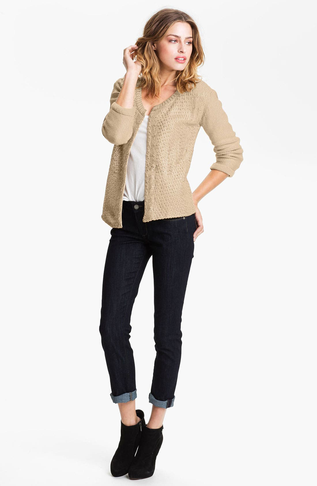 Alternate Image 4  - Gibson Metallic Cable Cardigan