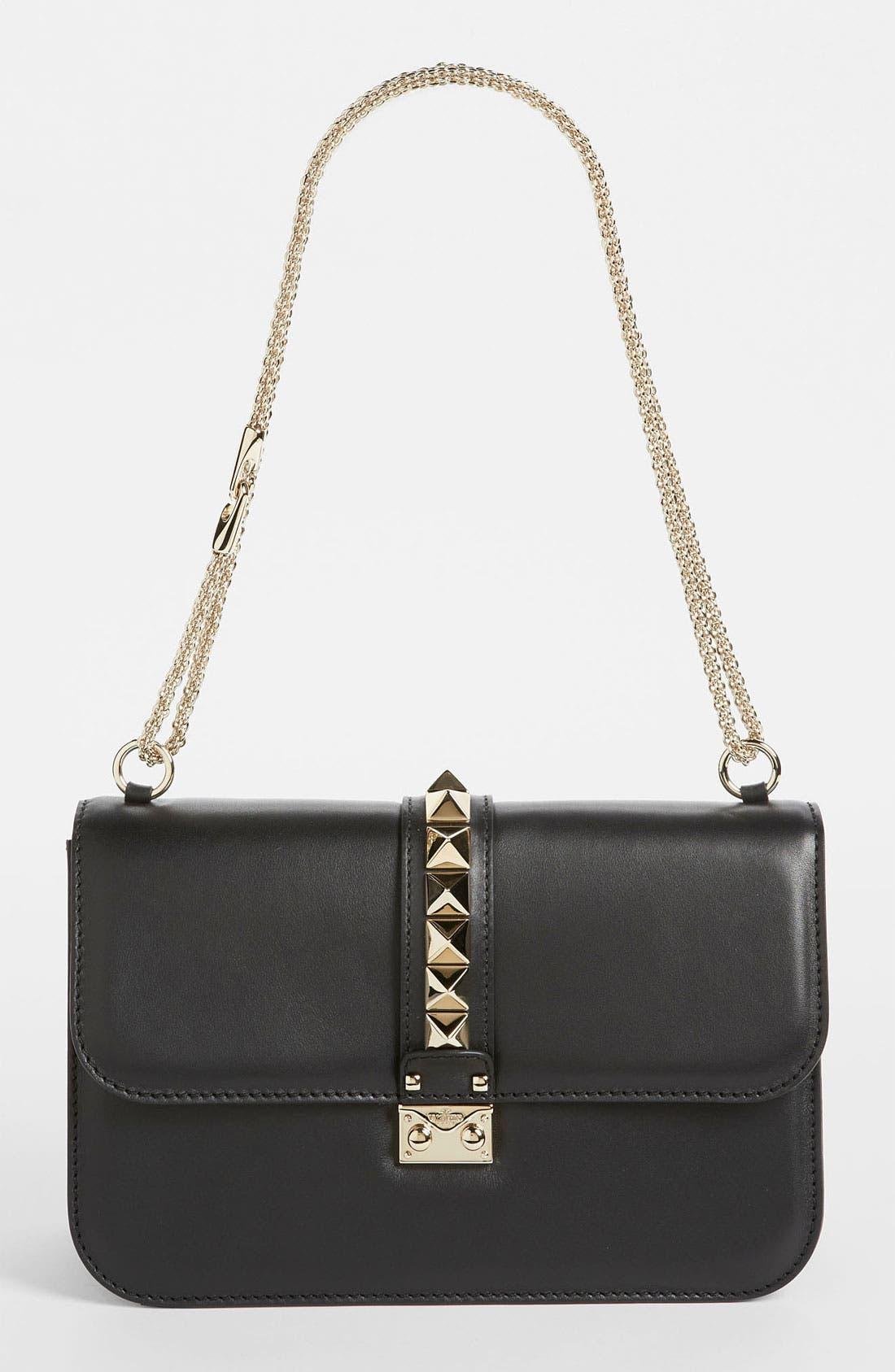 Main Image - Valentino 'Lock - Medium' Leather Shoulder Bag