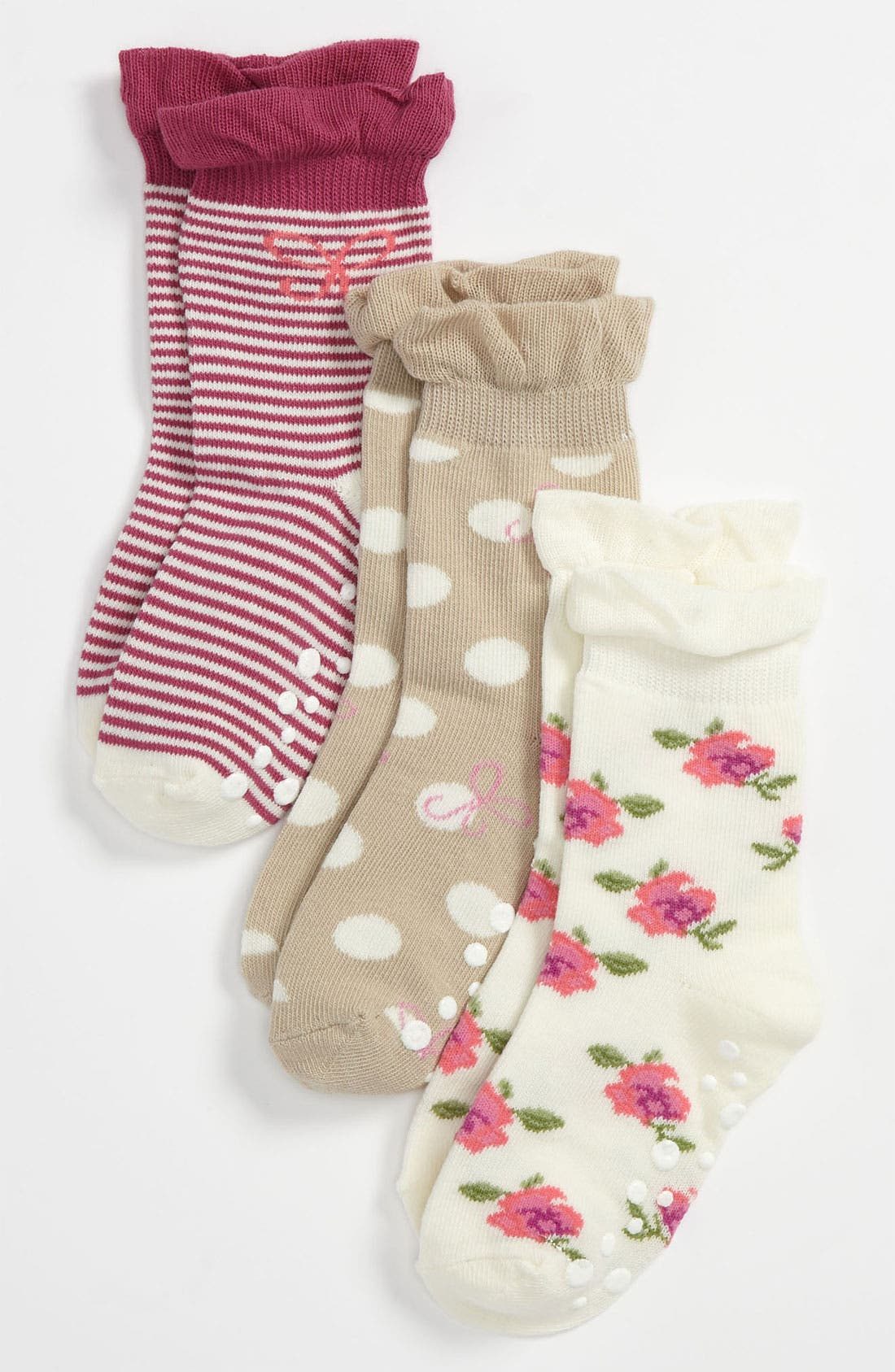 Main Image - Nordstrom 'Posey Toes' Socks (3-Pack) (Girls)