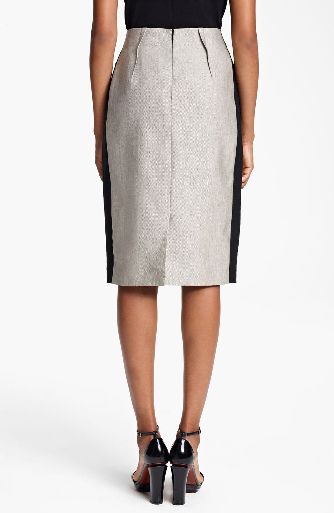 Alternate Image 2  - Lida Baday Raffia Pencil Skirt
