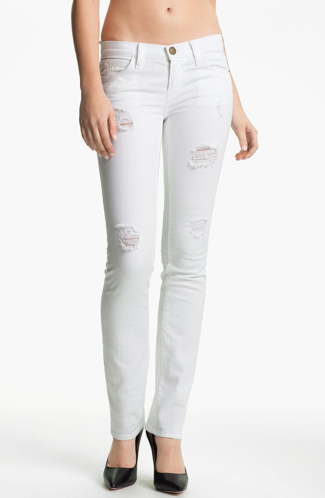 Main Image - Current/Elliott 'The Straight Leg' Destroyed Stretch Jeans (Sugar Destroy)