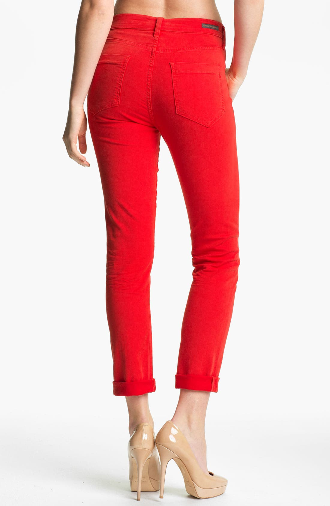 Alternate Image 2  - Citizens of Humanity 'Carlton' Crop Skinny Jeans (Villa Red)