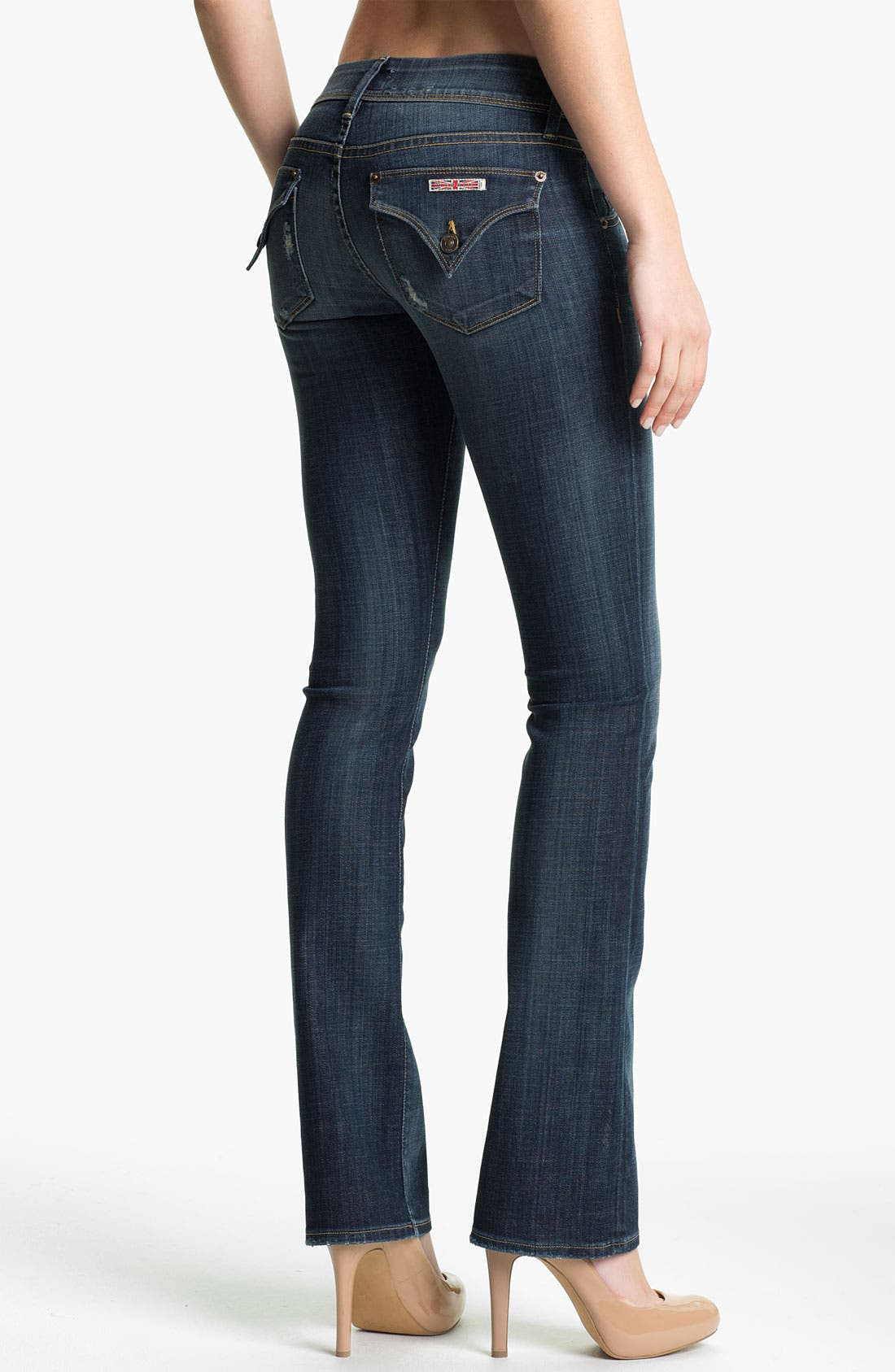 Alternate Image 2  - Hudson Jeans 'Beth' Baby Bootcut Jeans (Whitcomb)