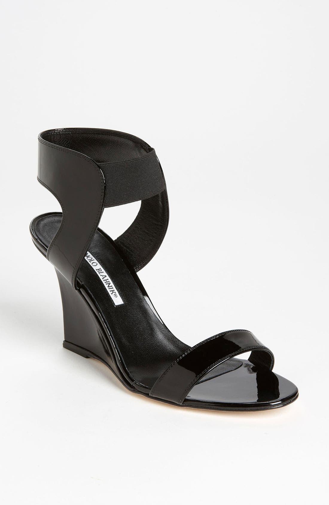 Alternate Image 1 Selected - Manolo Blahnik 'Pepe' Wedge Sandal