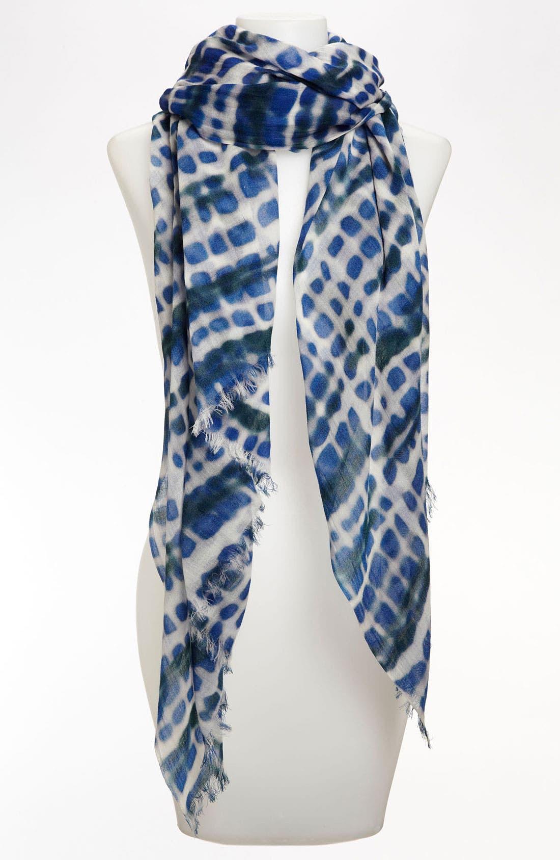 Alternate Image 1 Selected - Lafayette 148 New York Print Wool & Silk Scarf