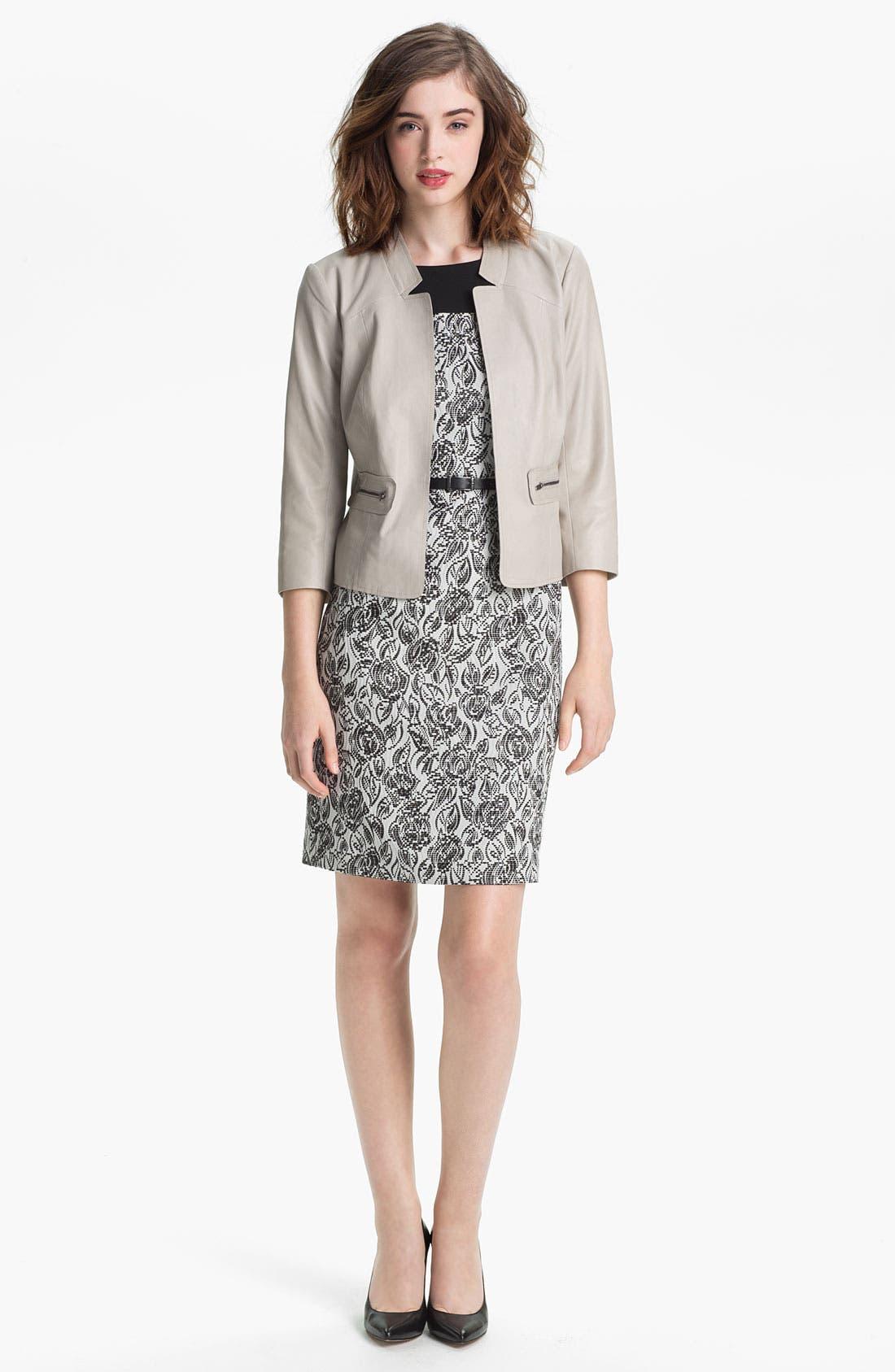 Alternate Image 4  - Classiques Entier® 'Laurel' Jacquard Dress