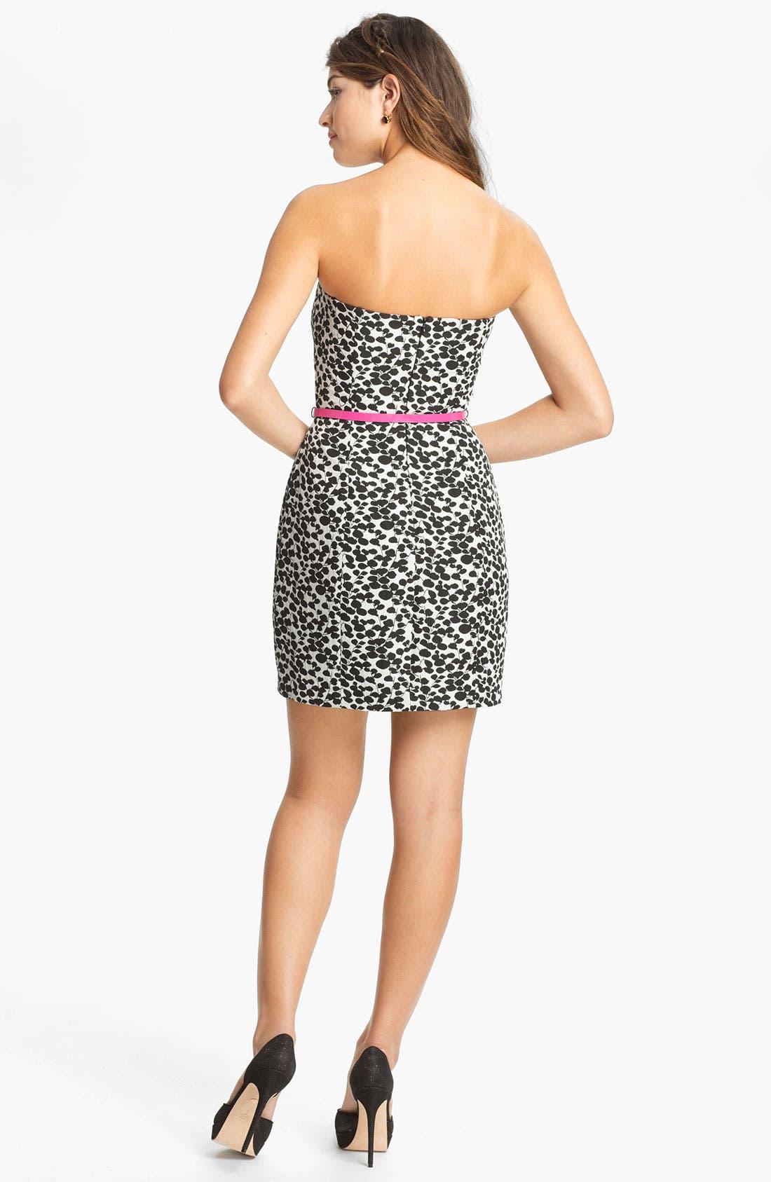 Alternate Image 2  - Max & Cleo Print Strapless Sheath Dress