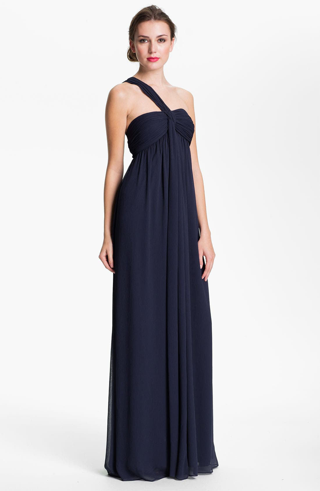 Main Image - Max & Cleo One Shoulder Chiffon Gown
