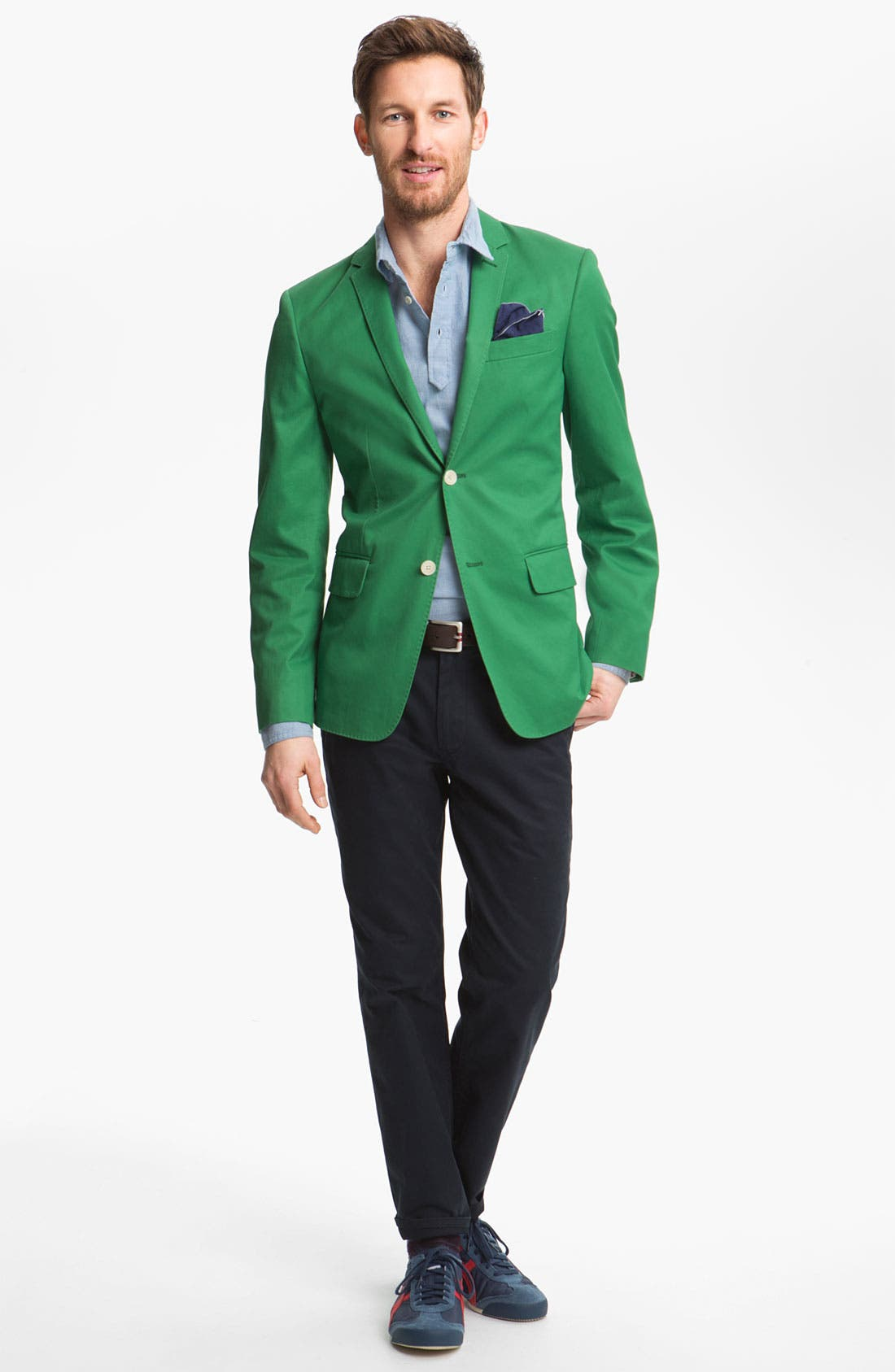 Alternate Image 4  - John W. Nordstrom Cotton Blazer