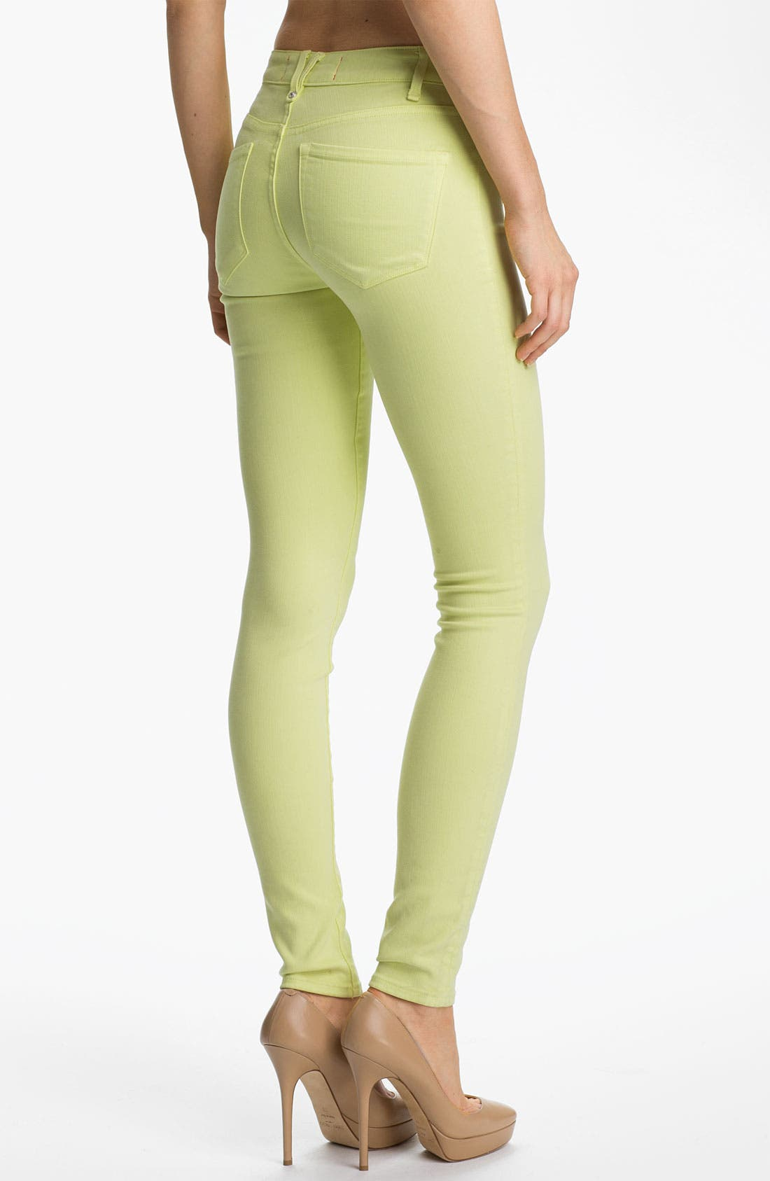 Alternate Image 2  - MARC BY MARC JACOBS 'Stick' Skinny Jeans (Lemon Sorbet)