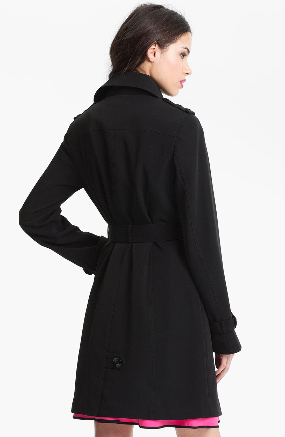 Alternate Image 2  - Gallery Club Collar Trench Coat