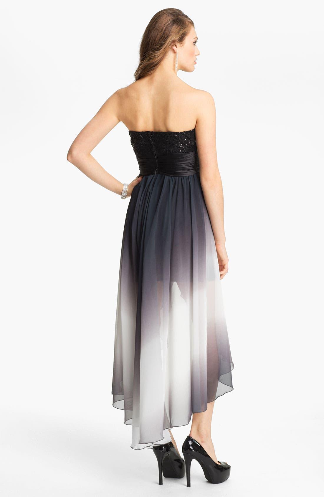 Alternate Image 2  - Speechless Embellished High/Low Dress (Juniors)