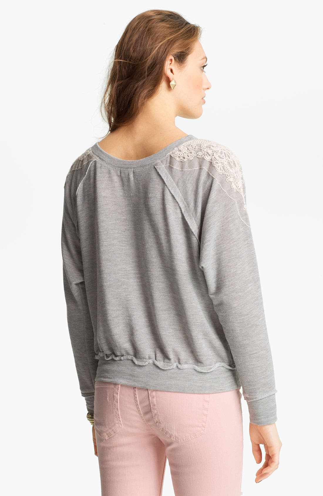 Alternate Image 2  - Ten Sixty Sherman Lace Appliqué Sweater (Juniors)