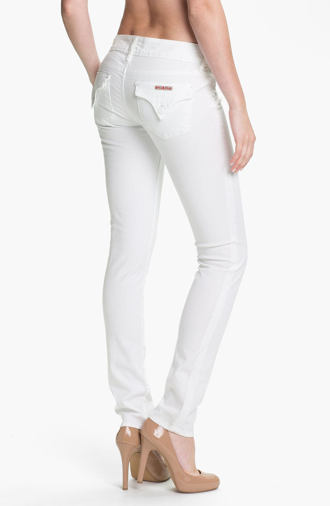 Alternate Image 2  - Hudson Jeans Skinny Stretch Jeans (New White Wash)