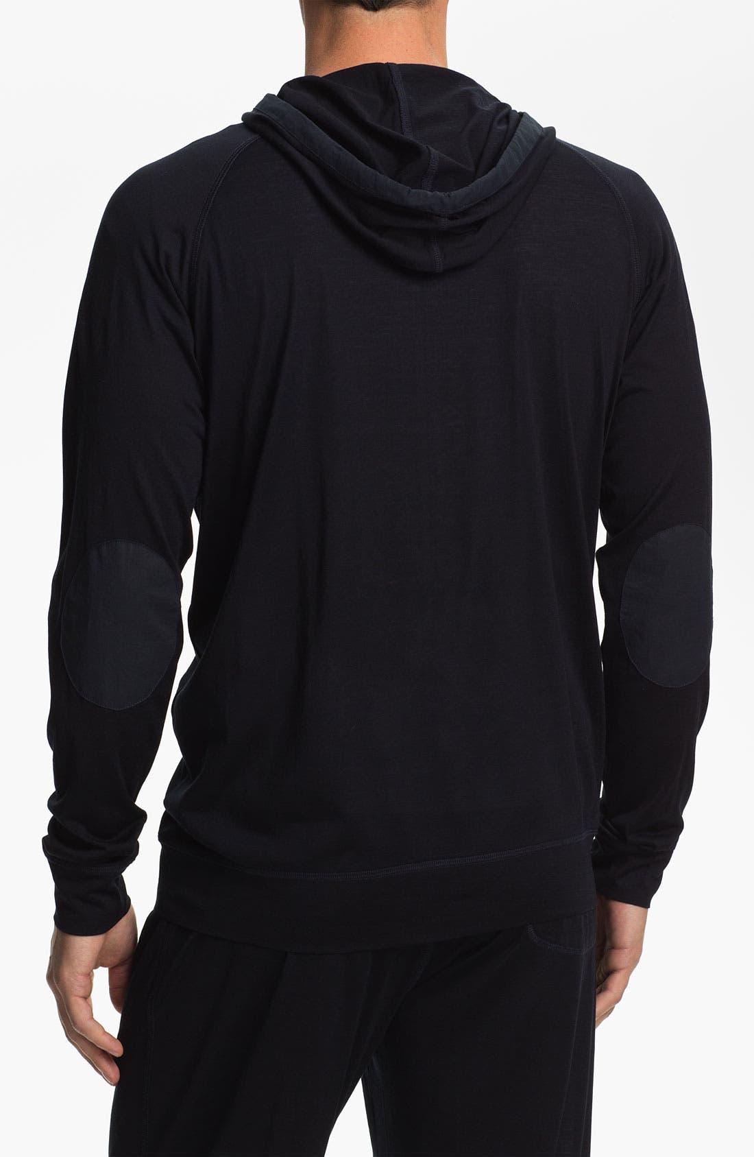Alternate Image 2  - Daniel Buchler Silk & Cotton Hoodie