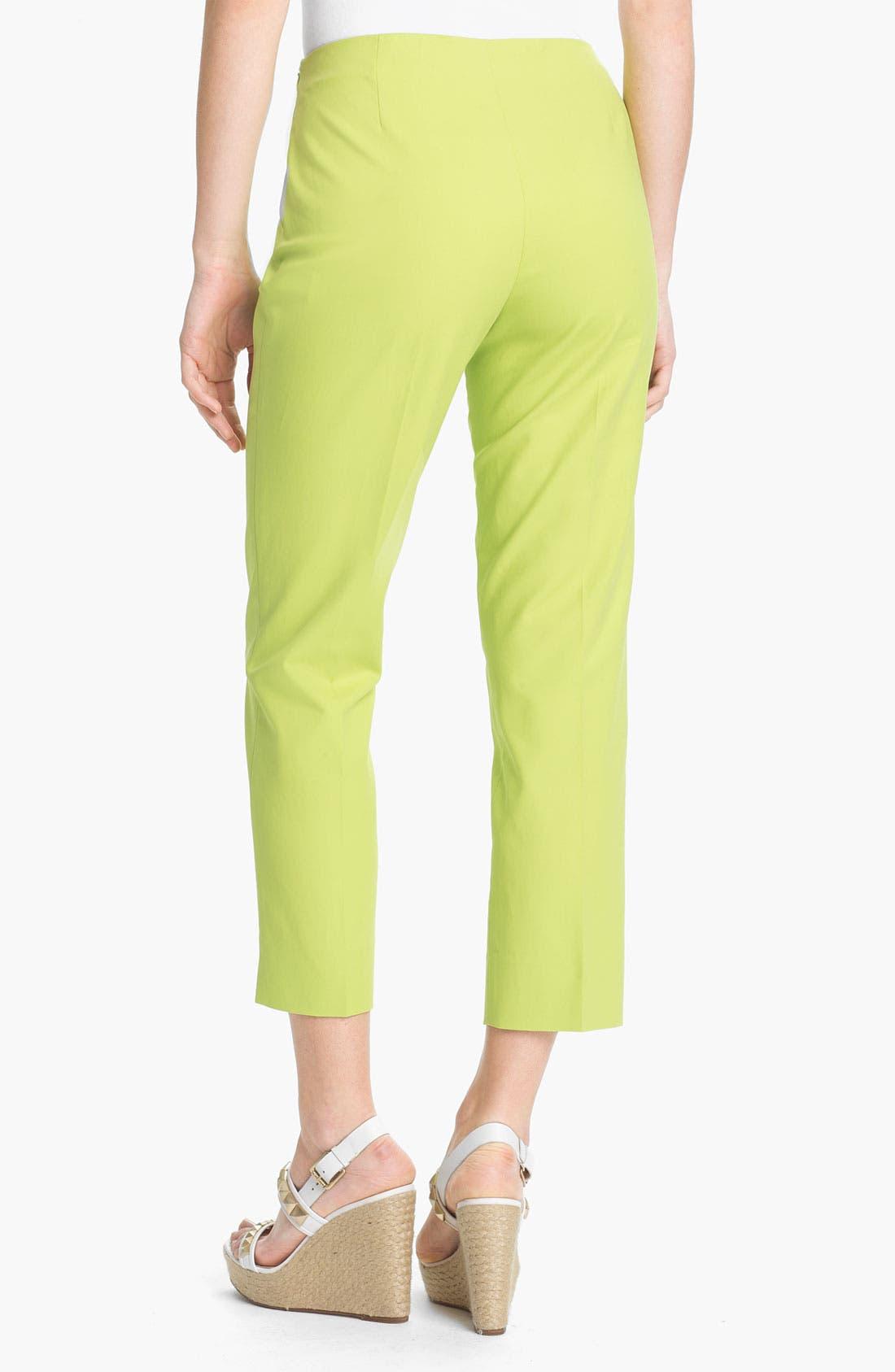 Alternate Image 2  - Lafayette 148 New York 'Bleecker' Crop Pants