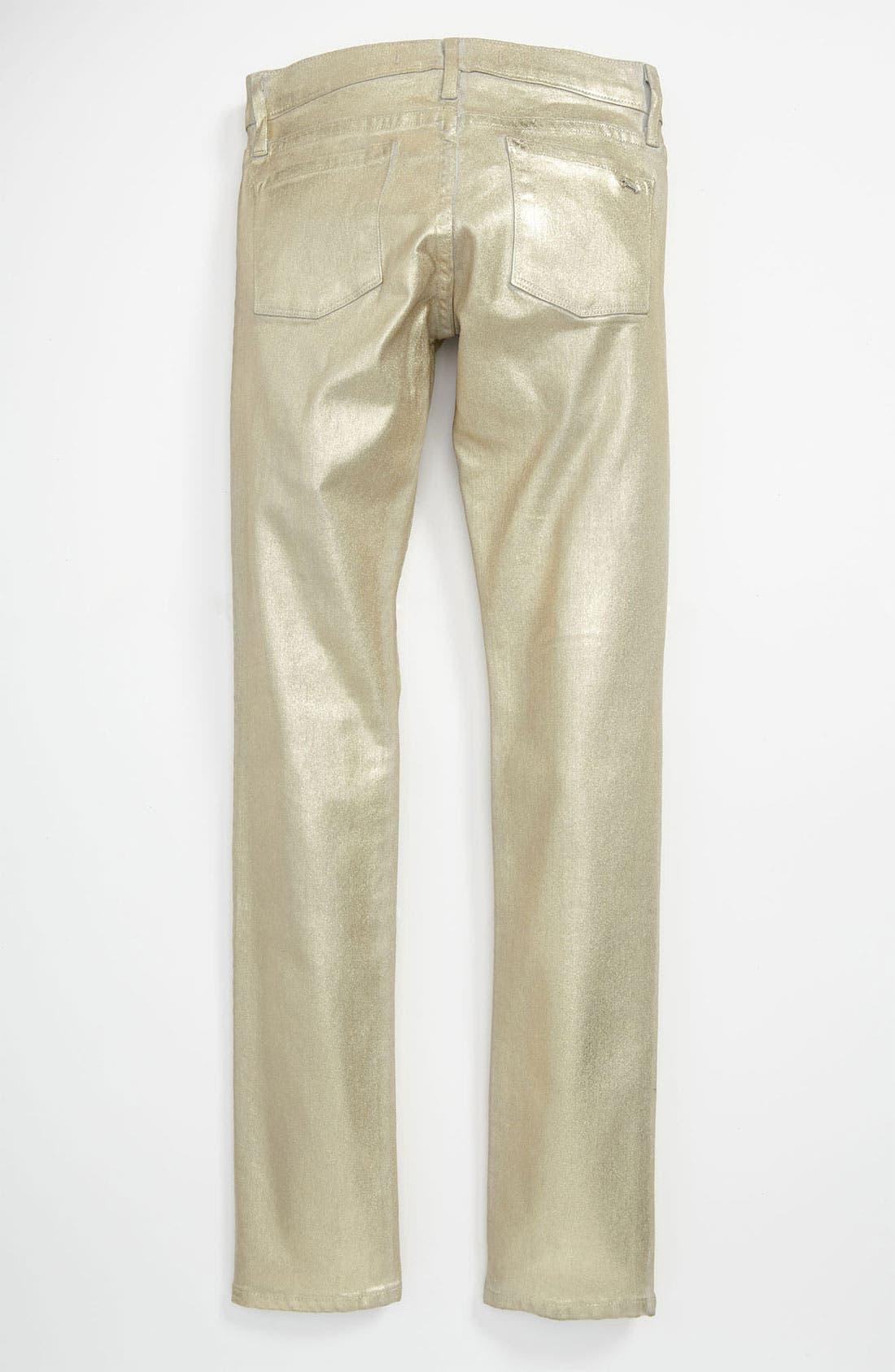 Alternate Image 1 Selected - Juicy Couture Metallic Skinny Pants (Little Girls & Big Girls)