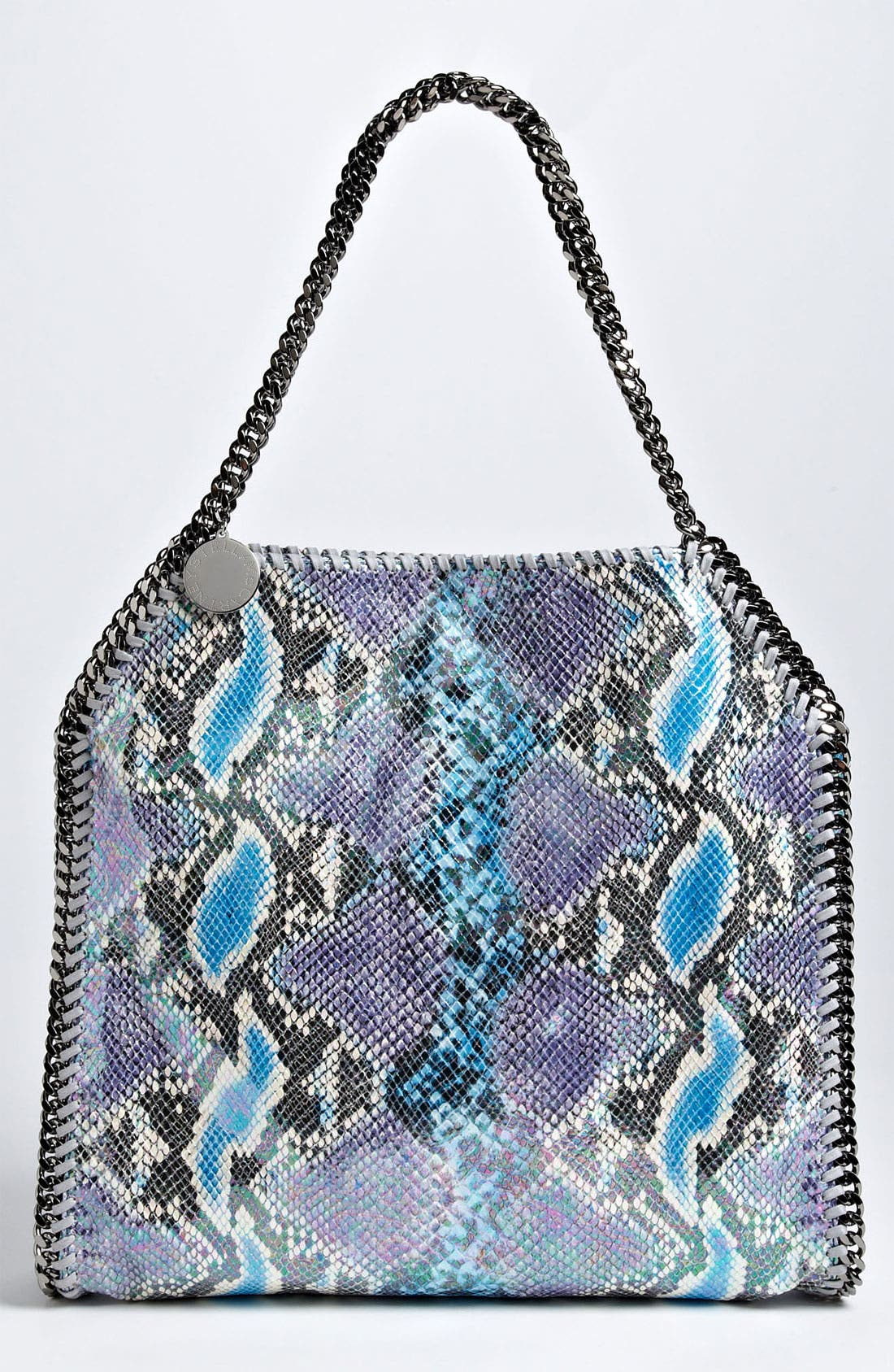 Main Image - Stella McCartney 'Falabella - Small' Oleographic Faux Python Tote