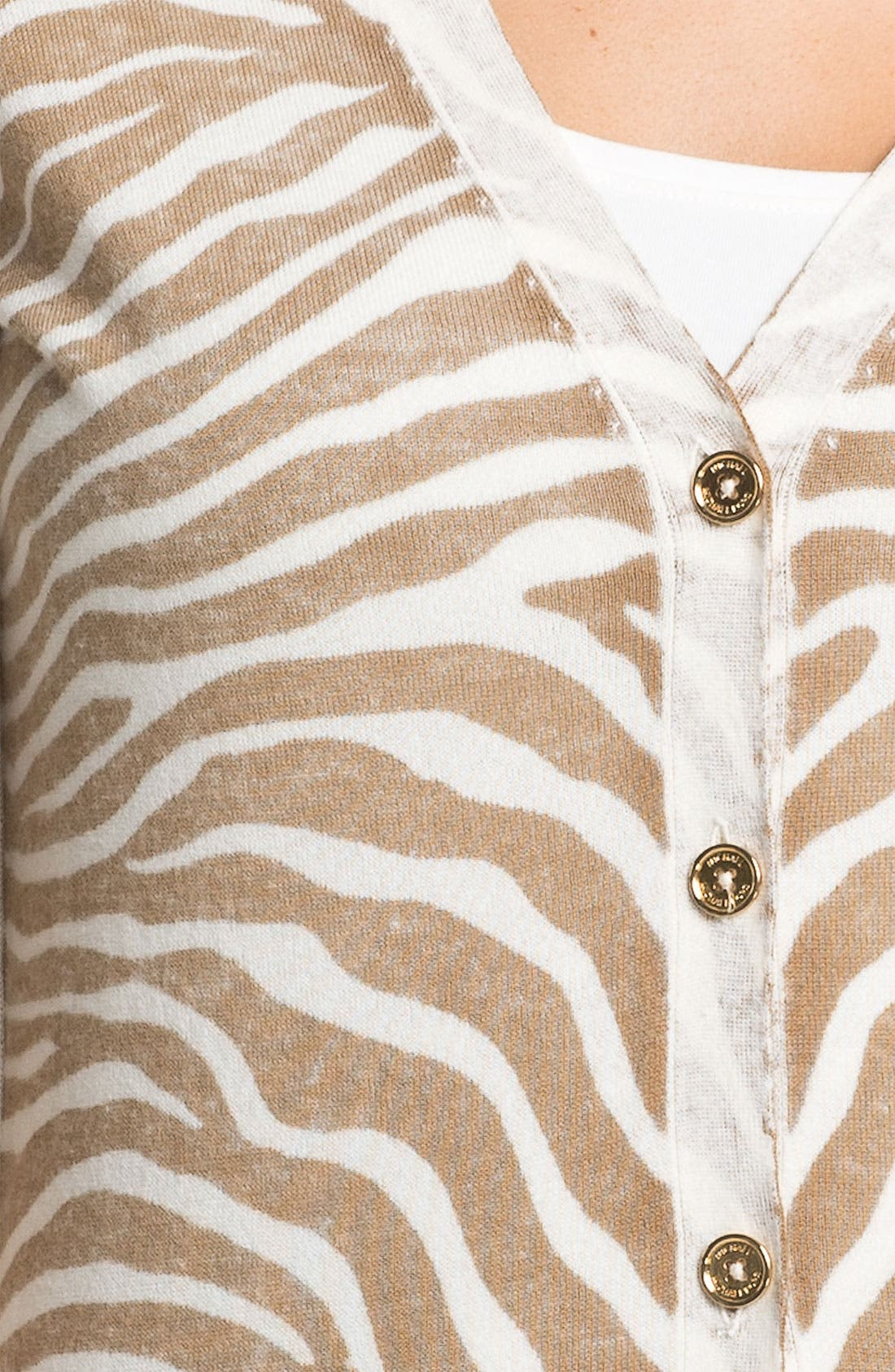 Alternate Image 3  - MICHAEL Michael Kors Zebra Print Cardigan