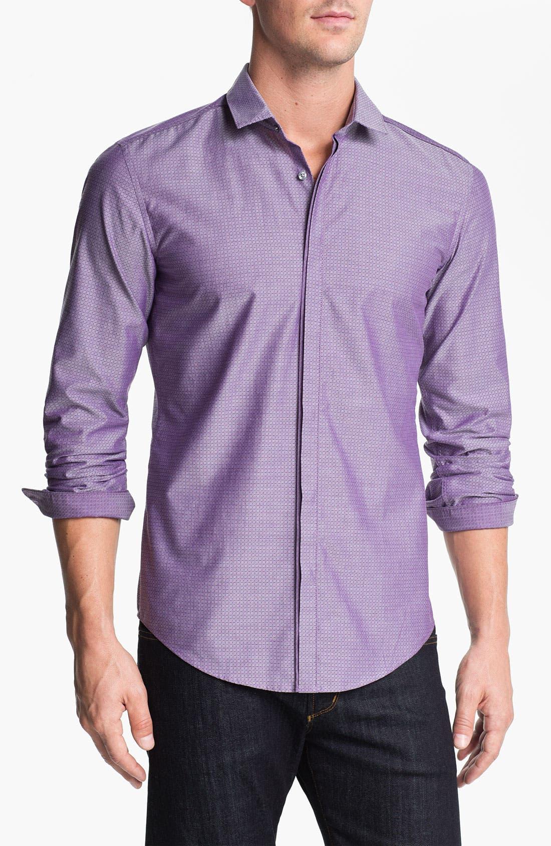 Alternate Image 1 Selected - BOSS Black 'Orien' Slim Fit Sport Shirt