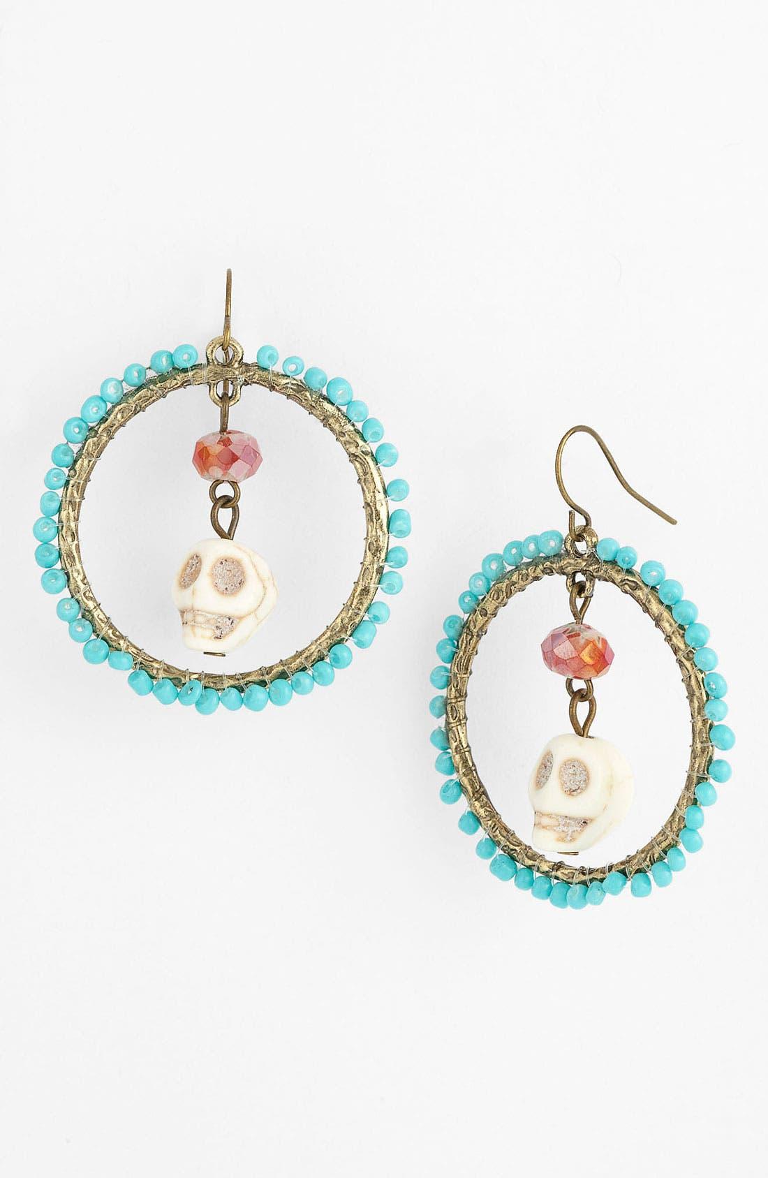 Main Image - Spring Street Design Group Skull Bead Earrings (Nordstrom Exclusive)