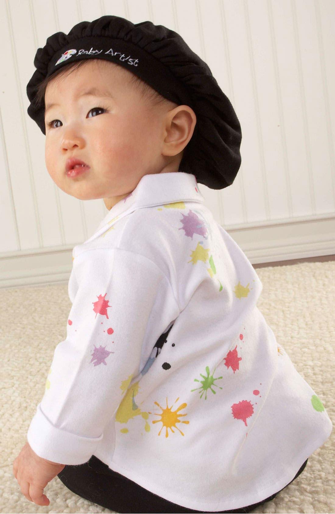 Alternate Image 4  - Baby Aspen 'Baby Artist' Shirt, Pants & Hat (Baby)