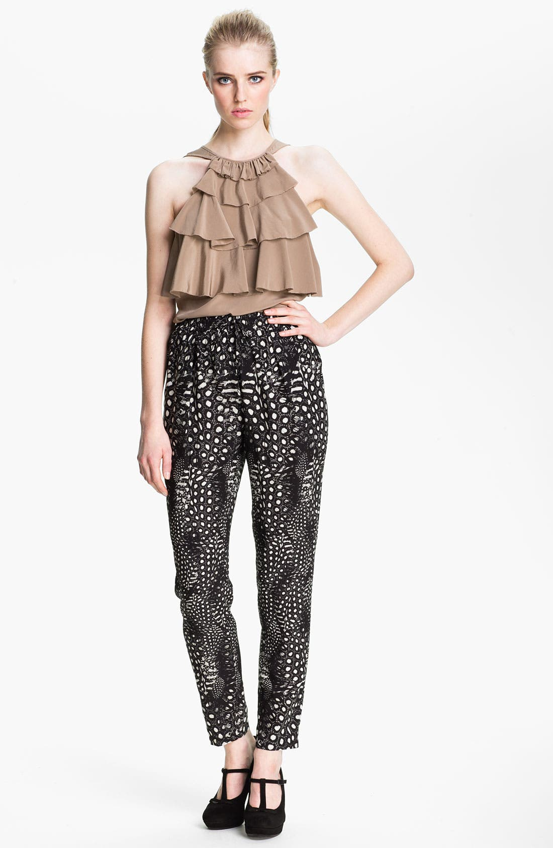 Alternate Image 1 Selected - Cut25 Ruffle Front Blouse