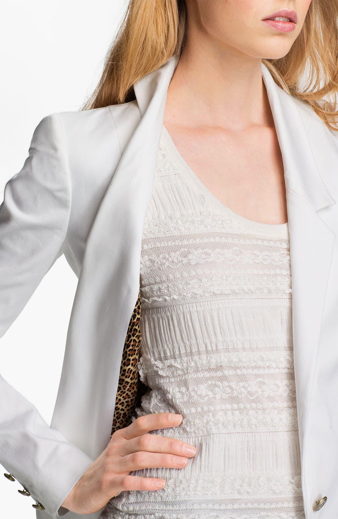 Alternate Image 3  - Just Cavalli Leopard Lined Cotton Blazer