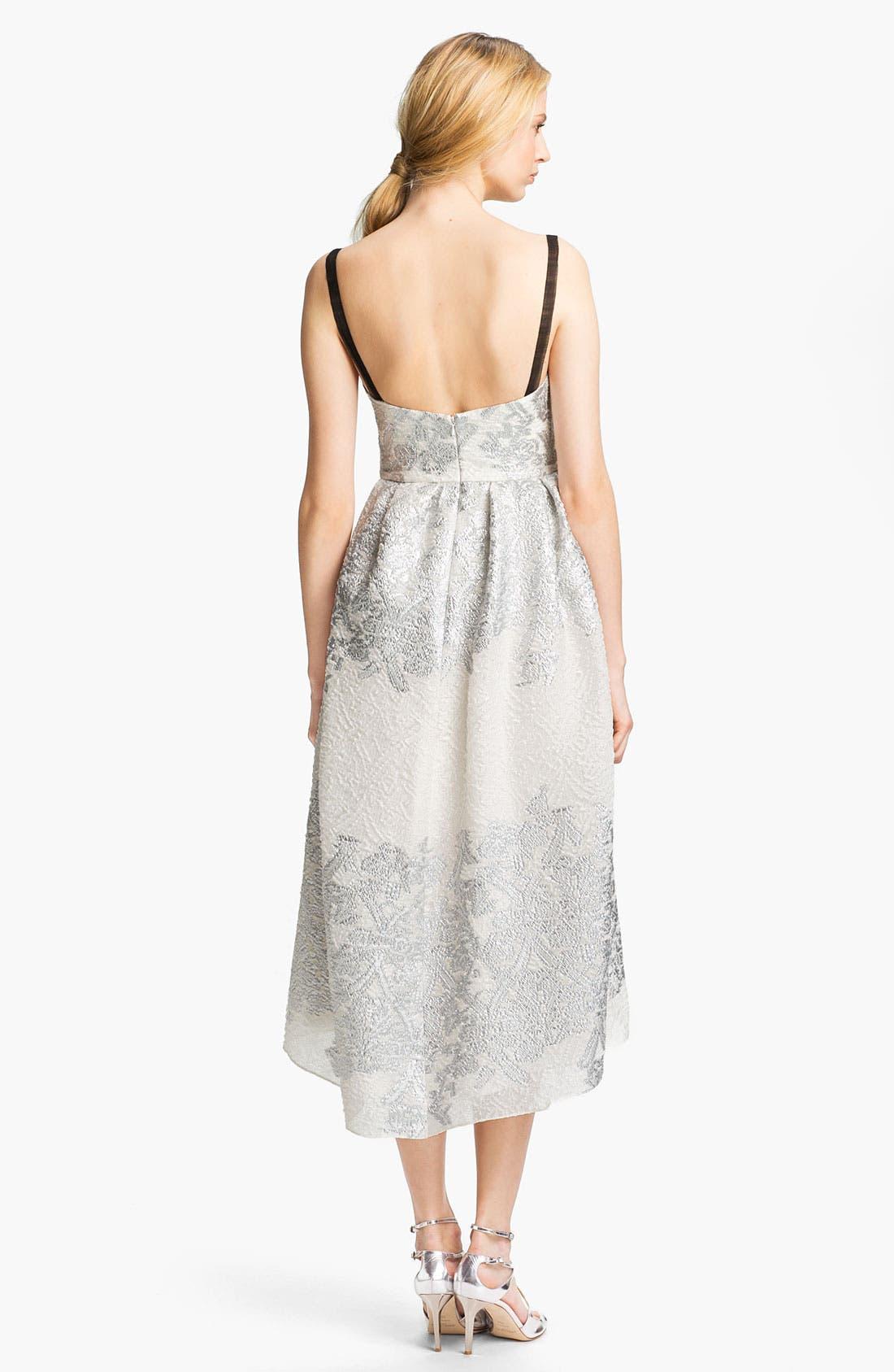 Alternate Image 2  - Lela Rose Short Brocade Gown