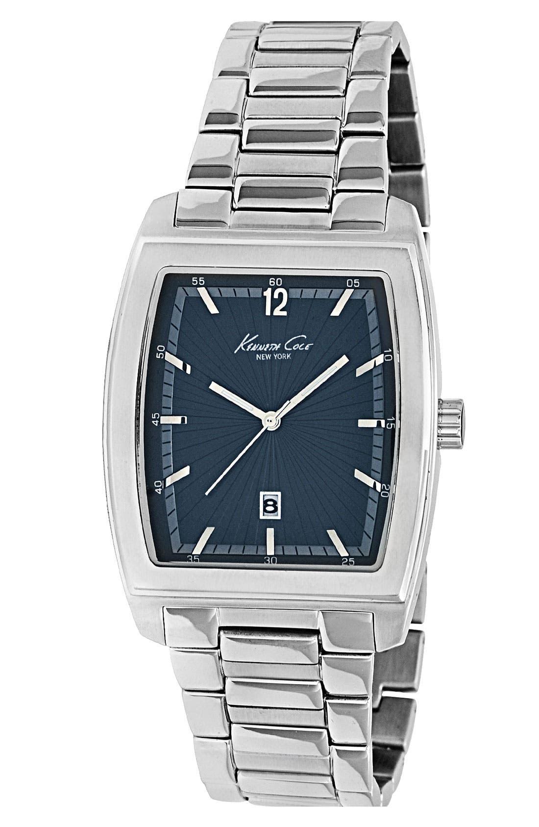 Alternate Image 1 Selected - Kenneth Cole New York Tonneau Bracelet Watch