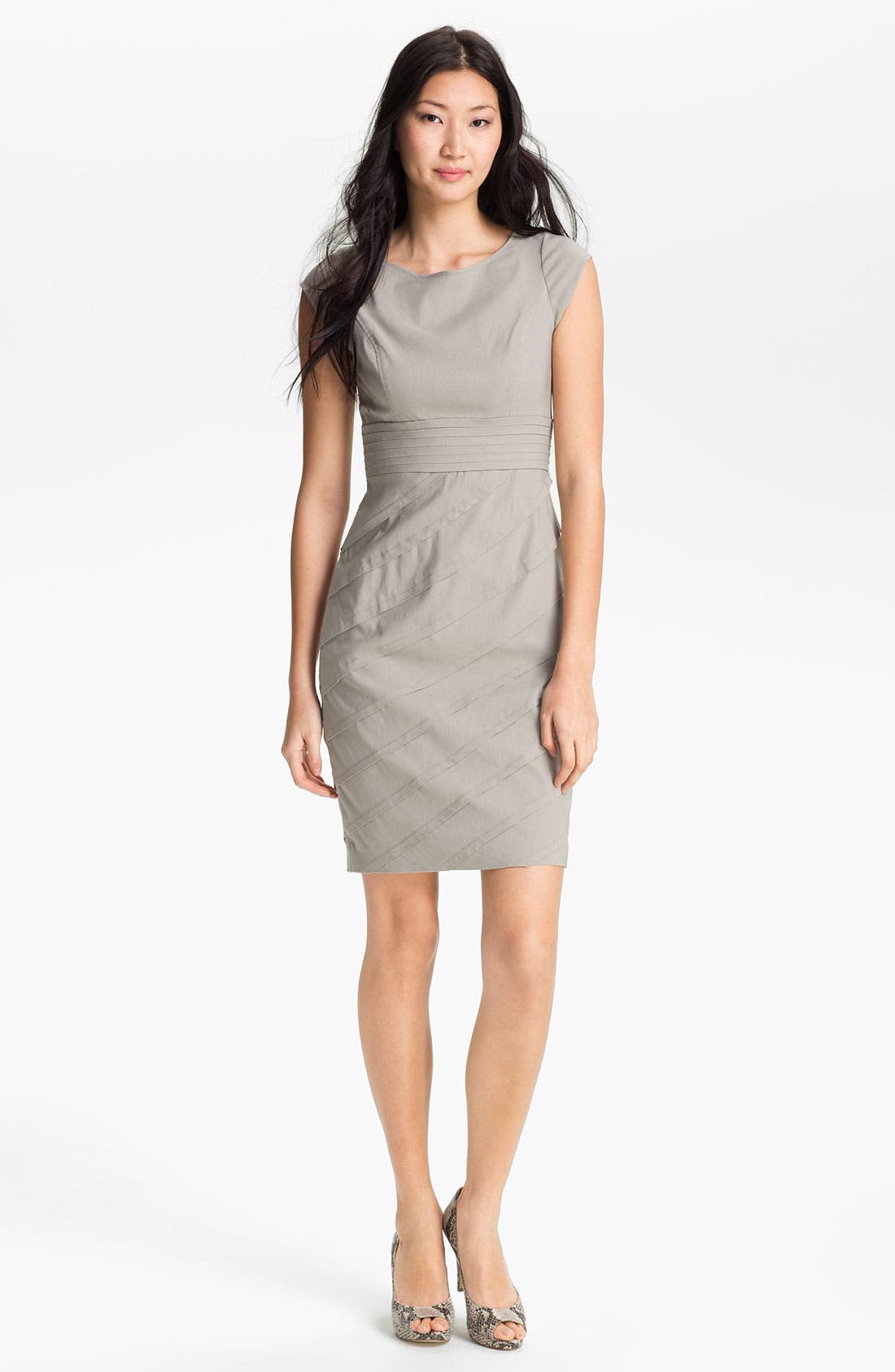 Main Image - Adrianna Papell Cap Sleeve Sheath Dress
