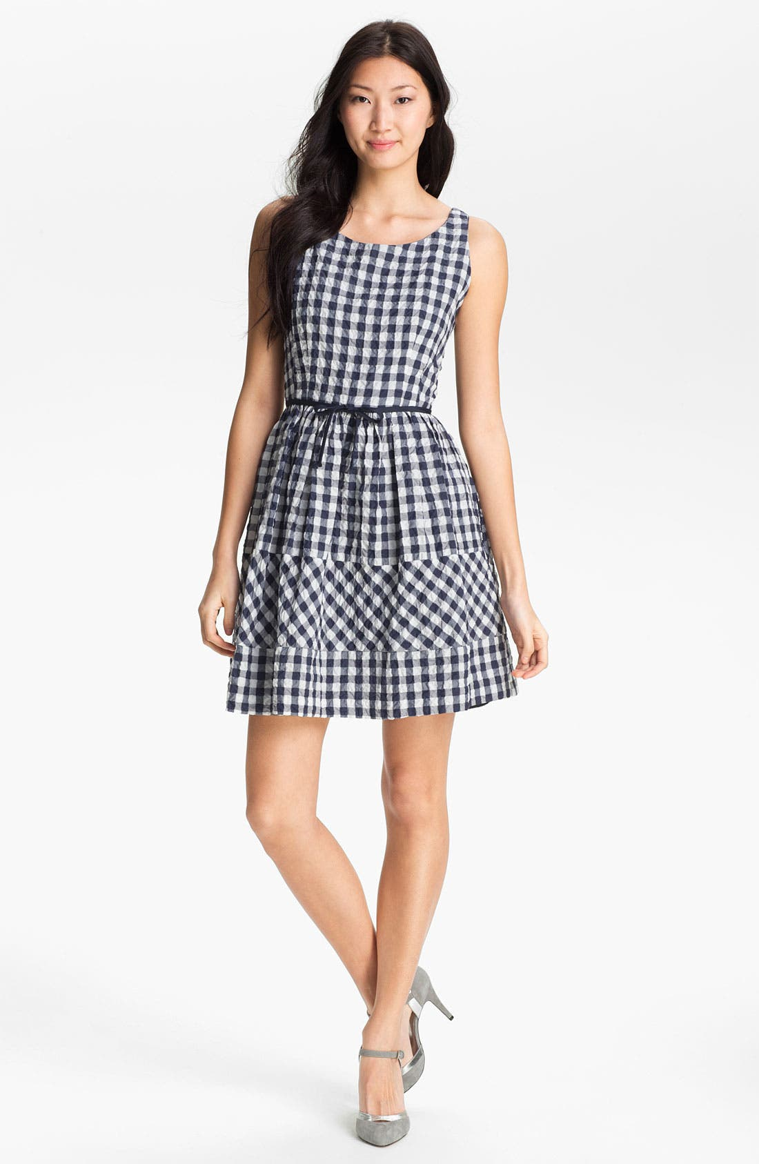 Alternate Image 1 Selected - Taylor Dresses Gingham Fit & Flare Dress