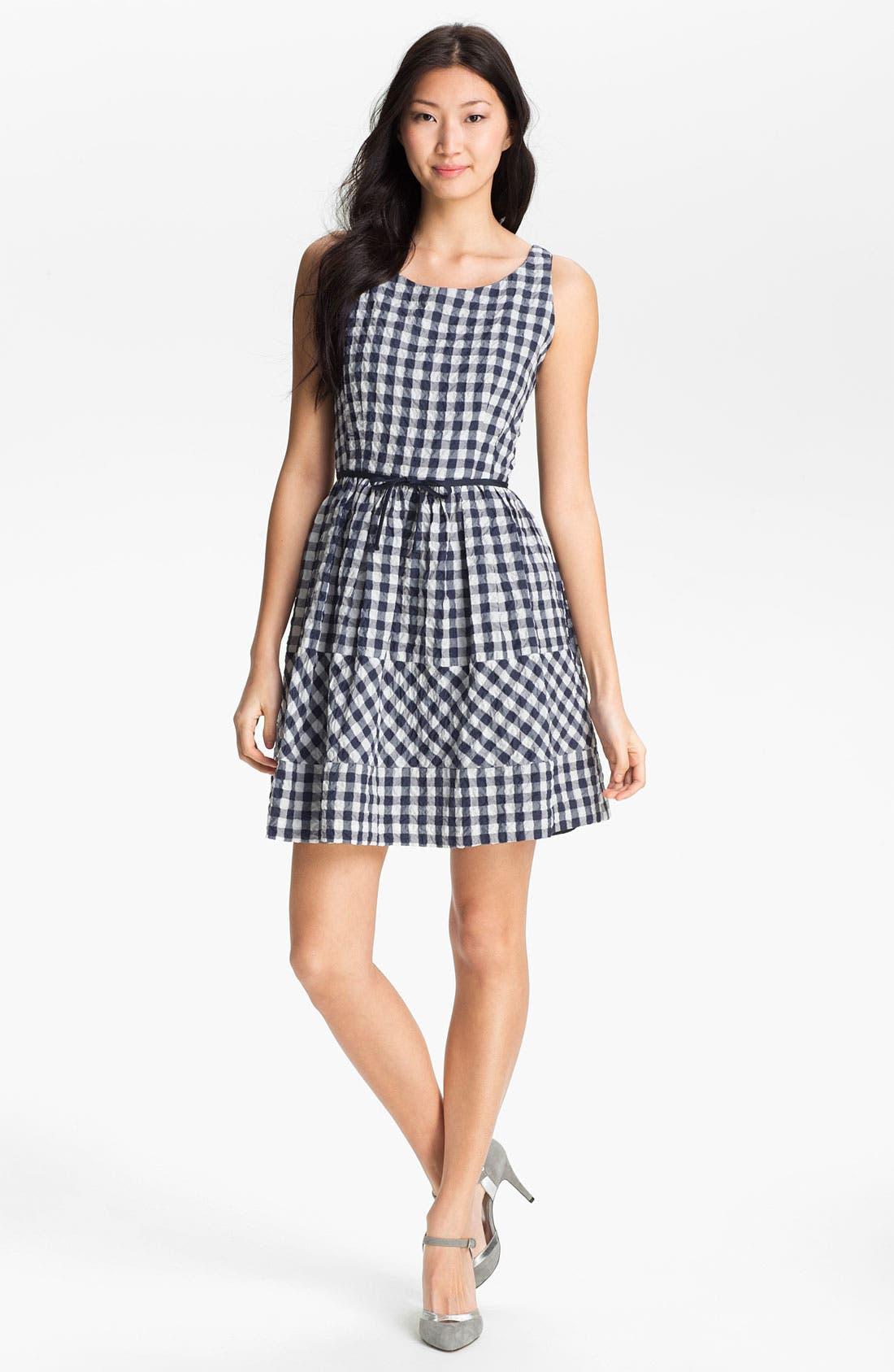 Main Image - Taylor Dresses Gingham Fit & Flare Dress