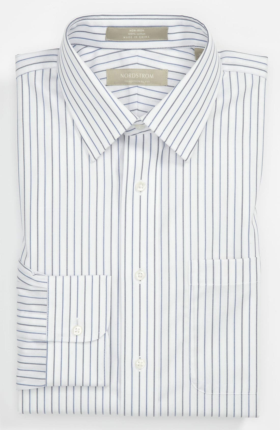 Main Image - Nordstrom Traditional Fit Non-Iron Stripe Dress Shirt (Online Only)