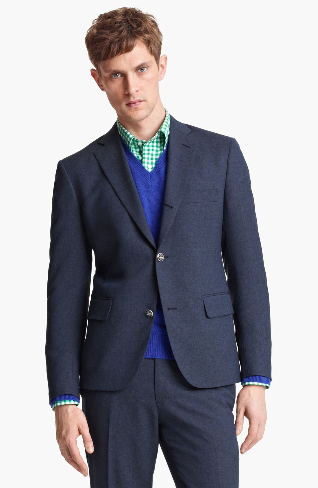 Alternate Image 1 Selected - Brooks Brothers by Jeffrey Three Button Blazer