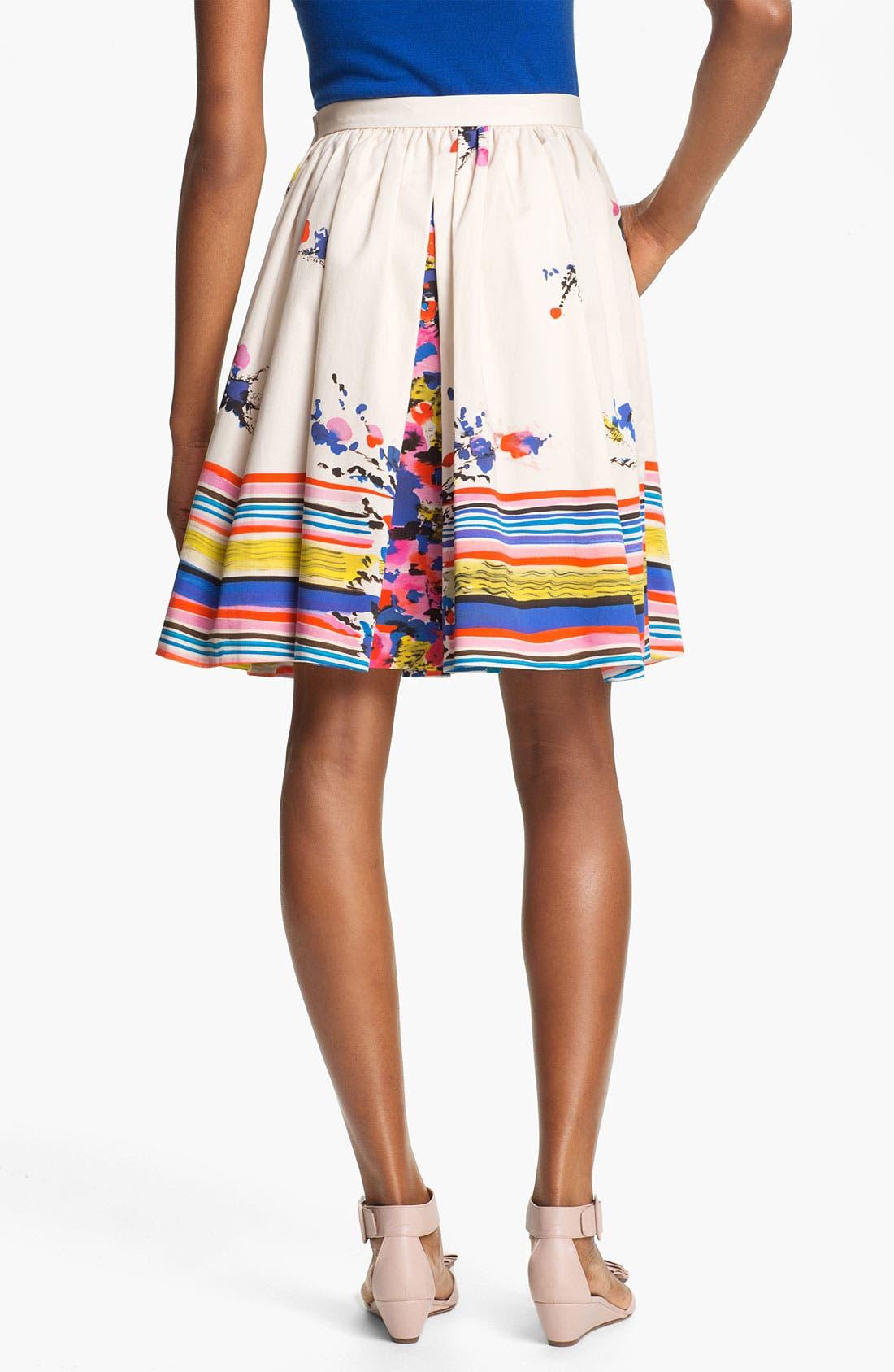 Alternate Image 2  - RED Valentino Bouquet Print Skirt