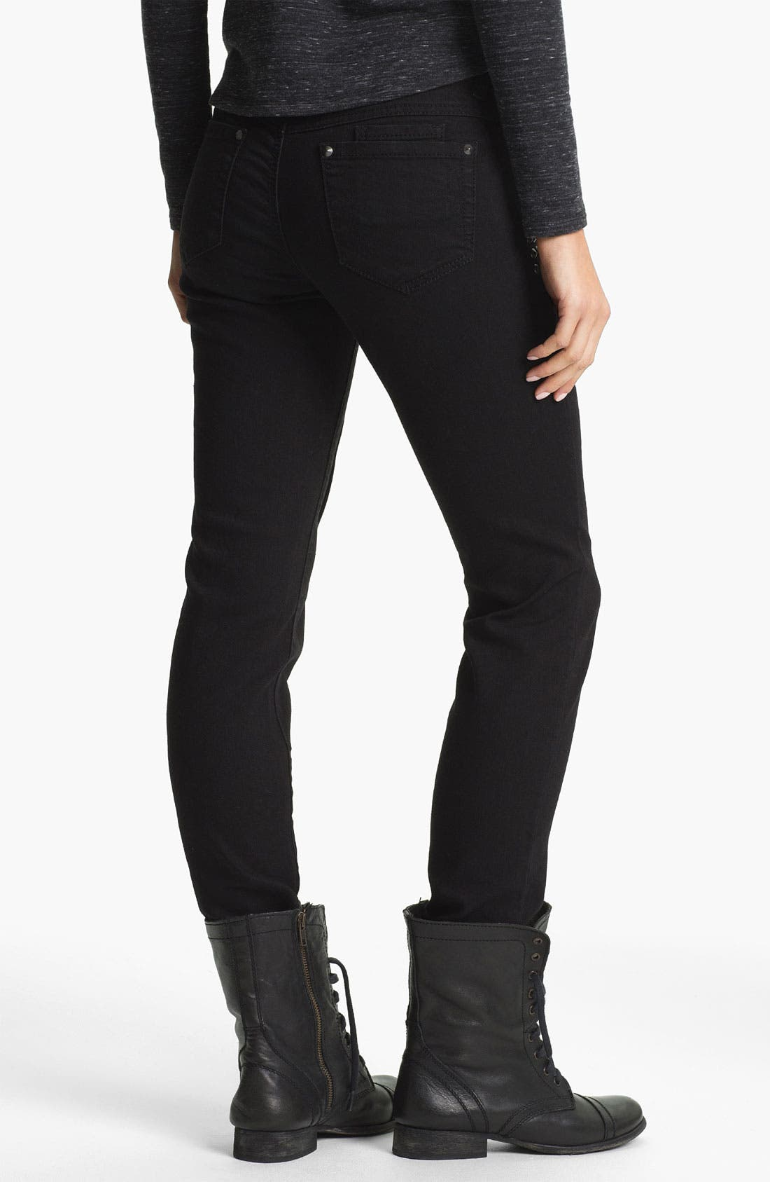 Alternate Image 2  - Jolt Studded Skinny Jeans (Juniors)