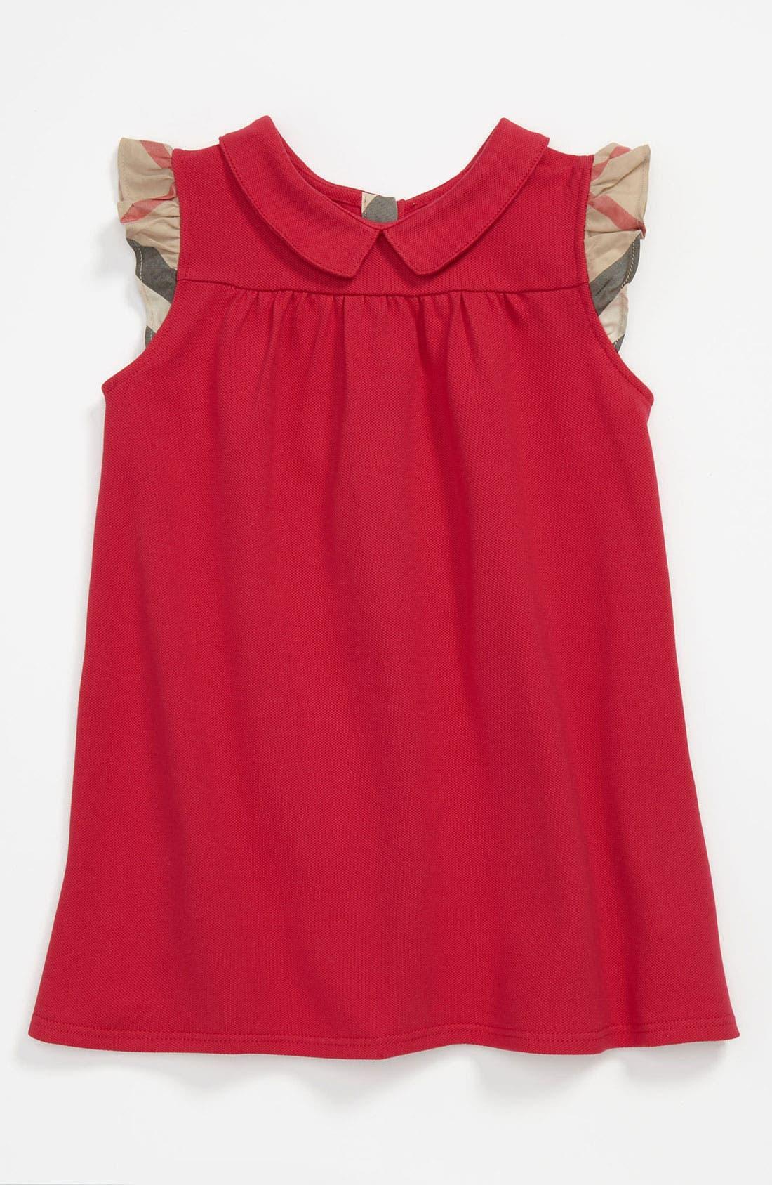 Alternate Image 1 Selected - Burberry 'Perez' Piqué Polo Dress (Baby)