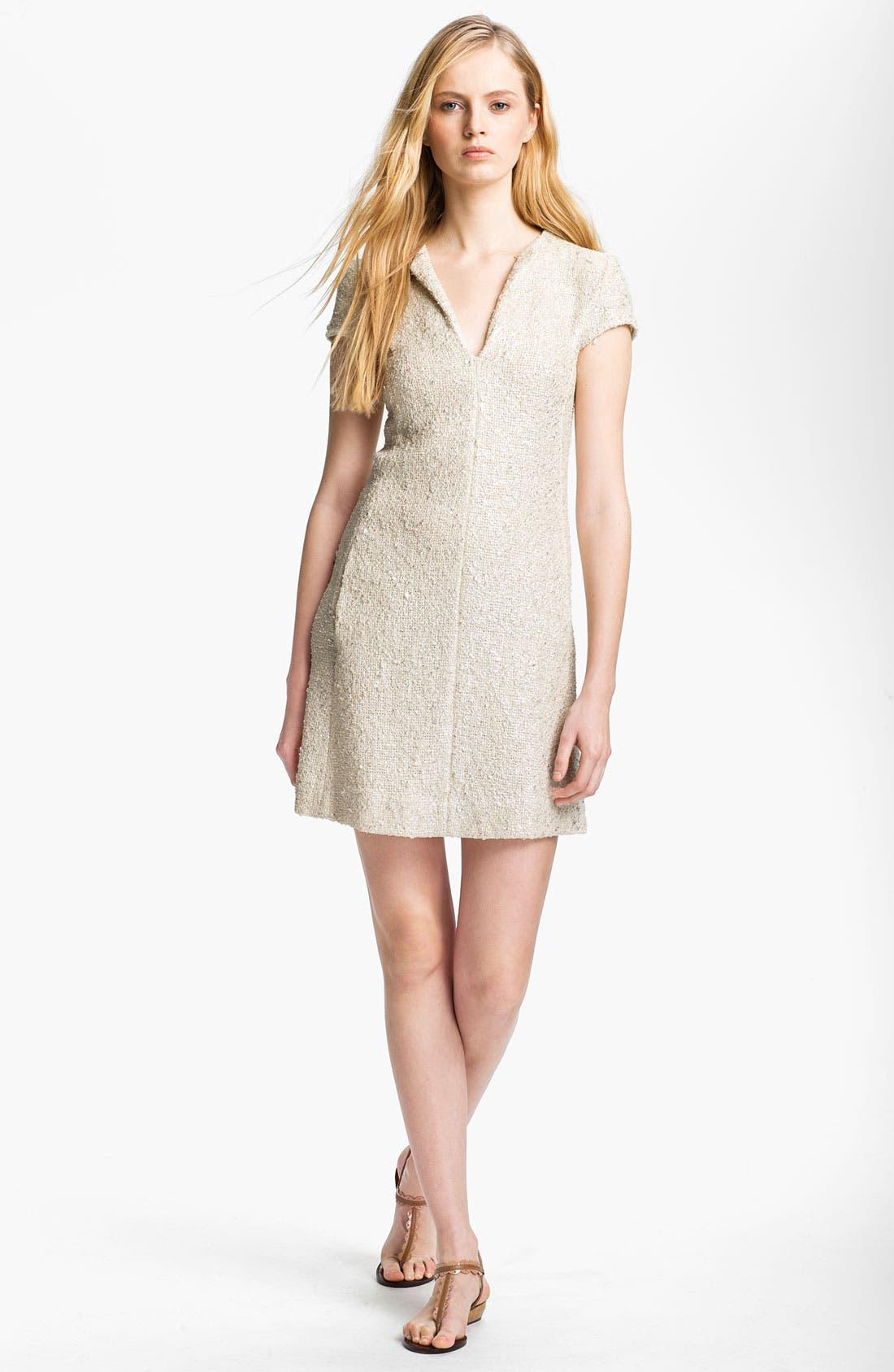Alternate Image 1 Selected - L'AGENCE Bouclé Shift Dress