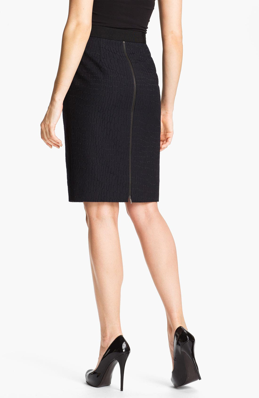 Alternate Image 2  - Classiques Entier® 'Dahlia Jacquard' Skirt