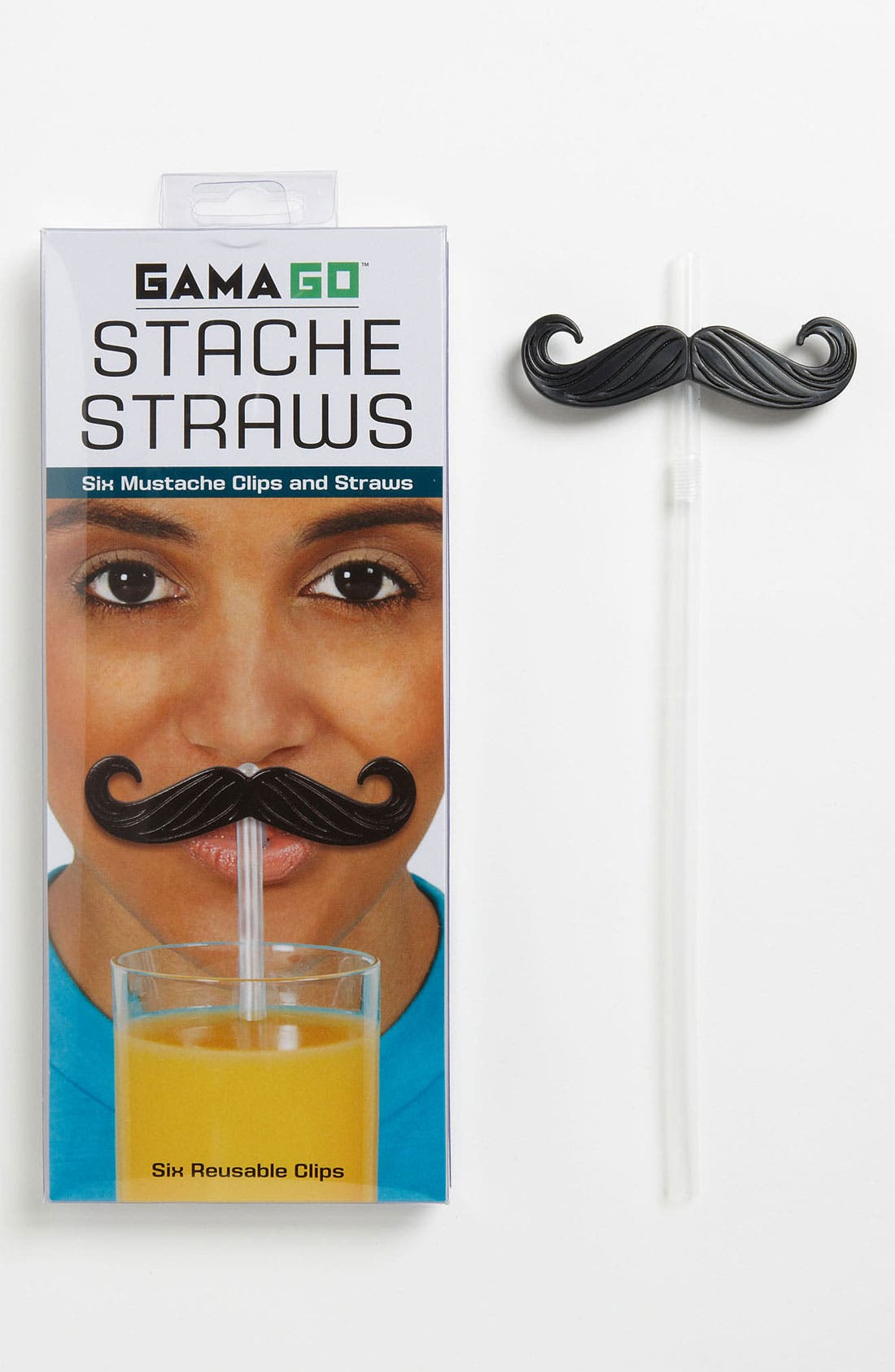 Alternate Image 1 Selected - Clip-On 'Stache' Straws