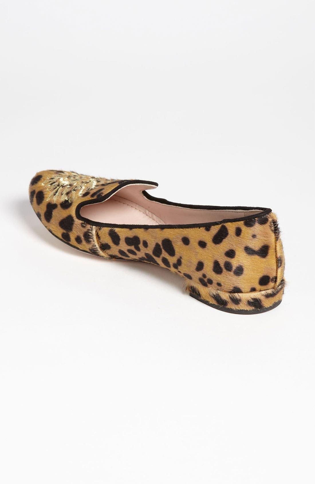Alternate Image 2  - Miu Miu Leopard Crest Smoking Flat