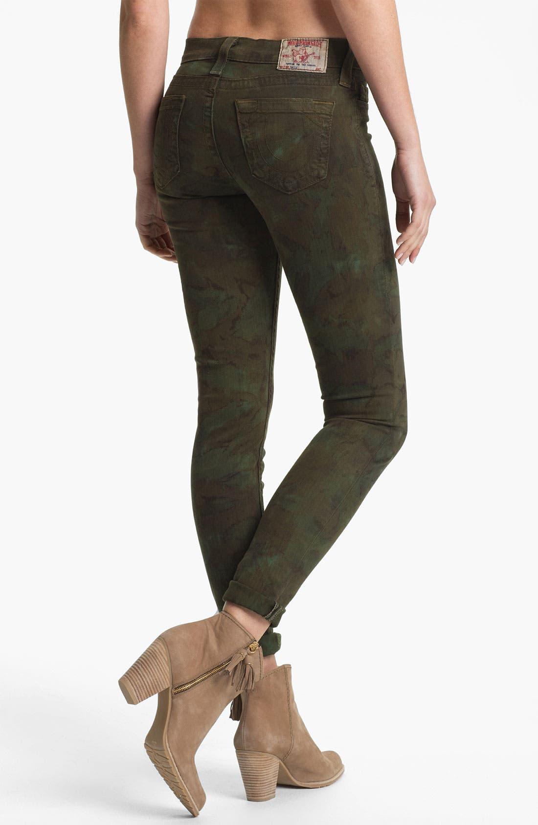 Alternate Image 2  - True Religion Brand Jeans 'Halle' Skinny Stretch Jeans (Military)