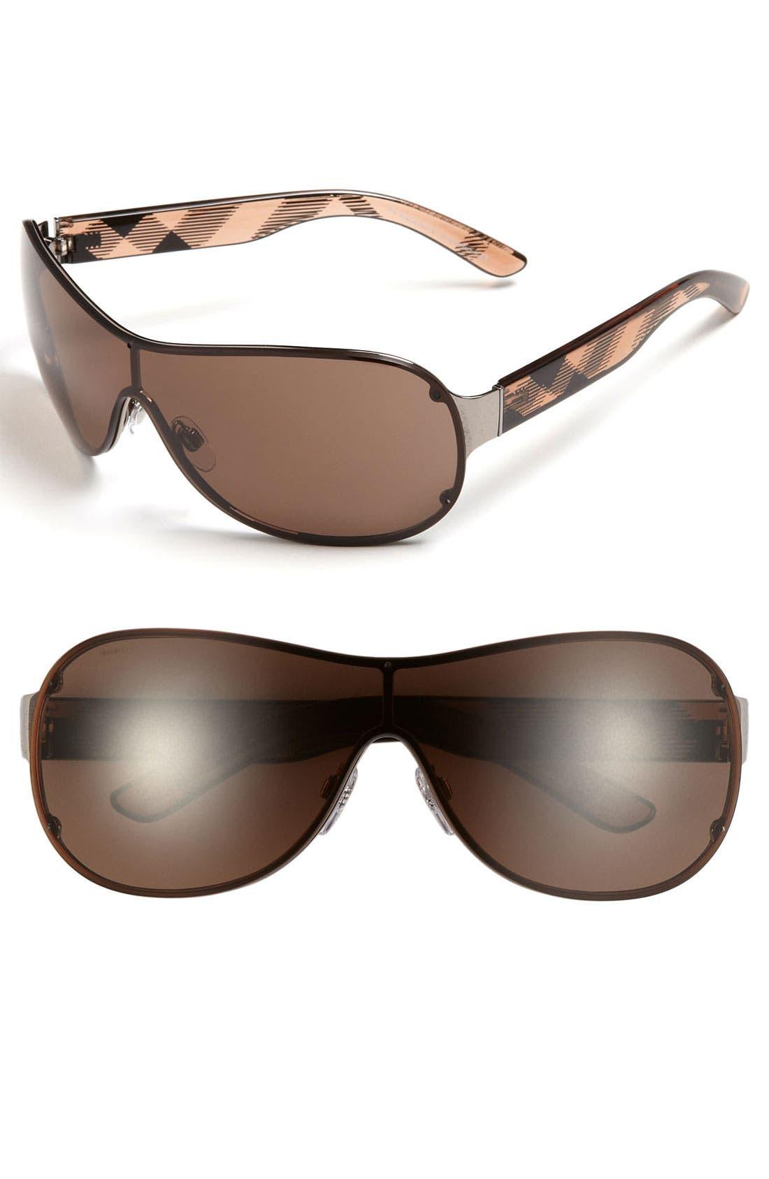 Main Image - Burberry 63mm Rimless Shield Sunglasses