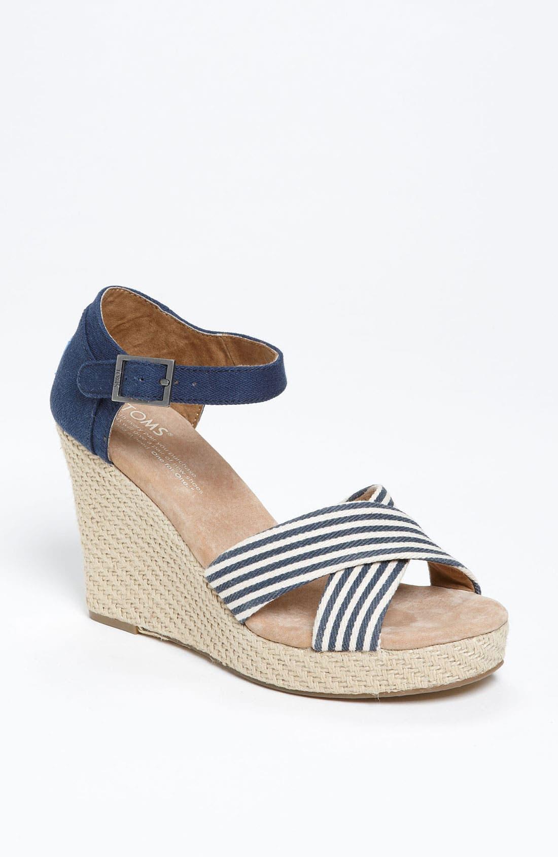 Alternate Image 1 Selected - TOMS 'University Stripe' Sandal