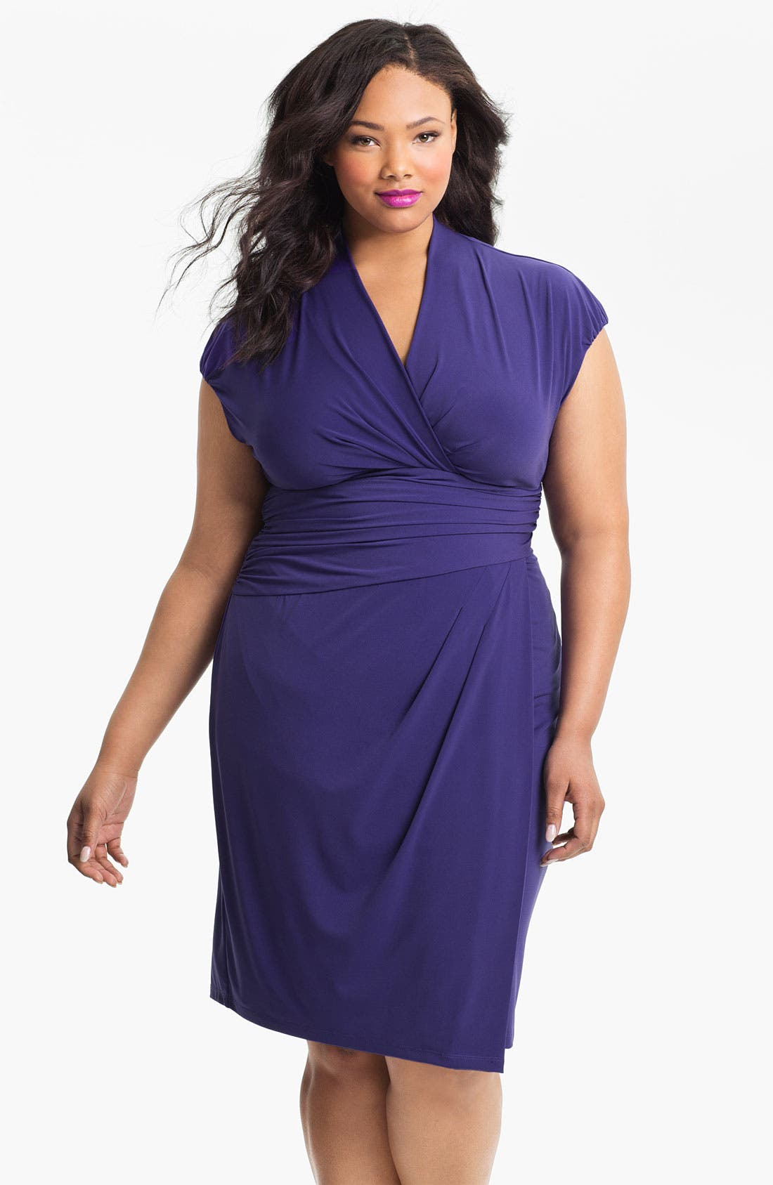 Alternate Image 1 Selected - Suzi Chin for Maggy Boutique Jersey Knit Dress (Plus Size)