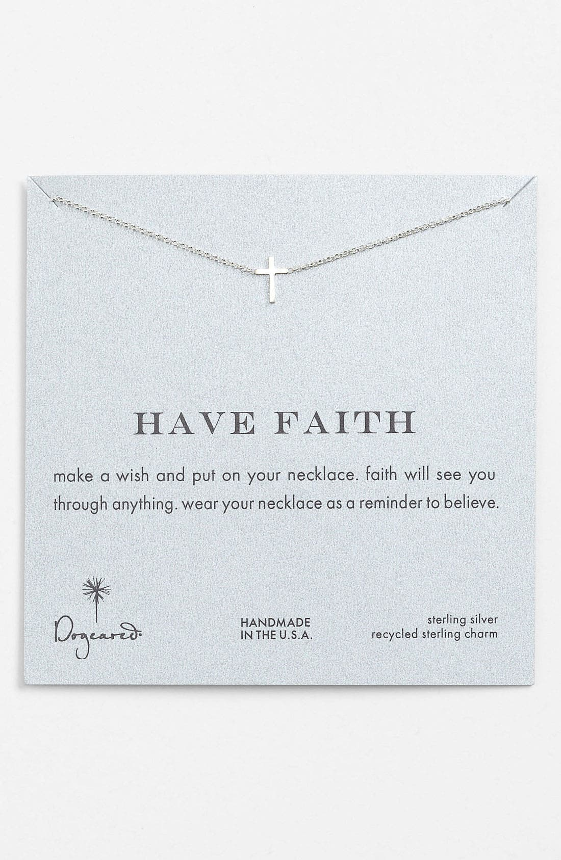 Alternate Image 1 Selected - Dogeared 'Reminder - Faith' Boxed Pendant Necklace